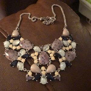 Black, Gray, and white necklace
